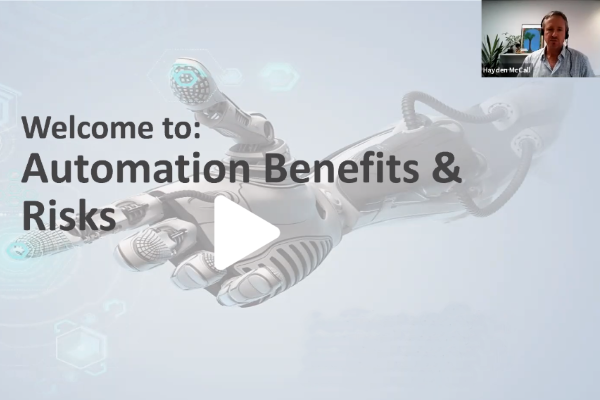 Automation benefits and risks webinar