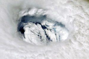The eye of hurricane