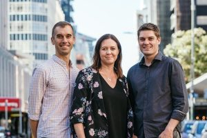 Hnry co-founders Richard Freestone, Claire Fuller and James Fuller
