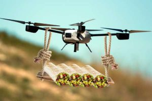 Commercial drones carry burrito
