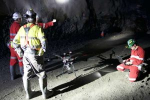 Emesents Hovermap underground mine drone